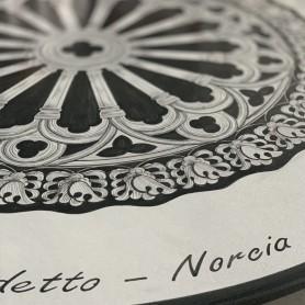 Tavolo in pietra lavica Norcia
