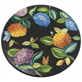 Tavolo in pietra lavica Ortensie