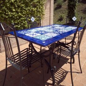 Tavolo in pietra lavica 140x80cm Maison