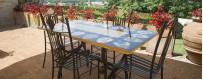 Sedie da Giardino in Ferro Decorate a Mano - Mari Ceramiche Deruta