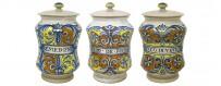 Albarelli Vasi Farmacia in Ceramica Artigianale di Deruta - Mari Ceramiche Deruta